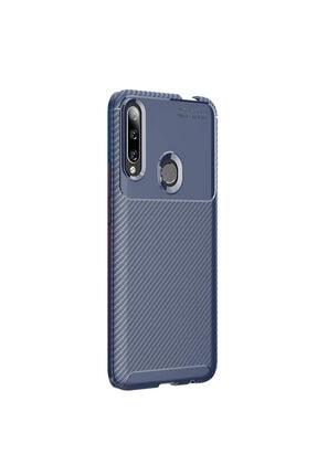 CaseUp Huawei Honor 9x Kılıf, Fiber Design Lacivert 1