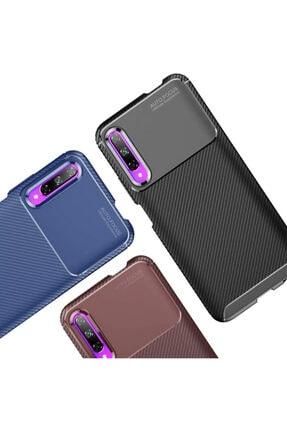 CaseUp Huawei Honor 9x Kılıf, Fiber Design Lacivert 3