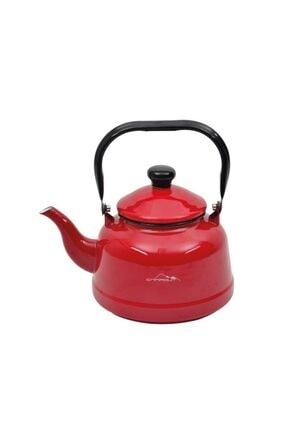 Nurgaz Campout Emaye Çaydanlık Set Kırmızı 2