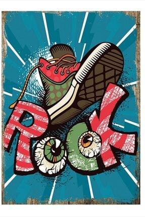 Tablomega Rock Tasarım Ahşap Tablo 25cm X 35cm 0