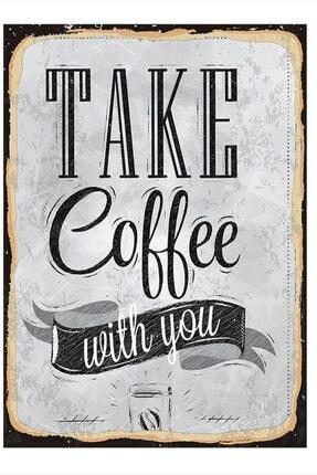 Tablomega Take Coffee Modern Ahşap Tablo 50cm X 70cm 0