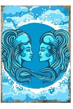 Tablomega Ikizler Burcu Mdf Poster 35cm X 50cm 0