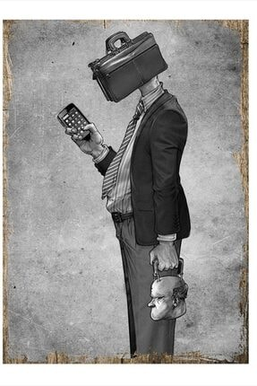 Tablomega Işkolik Adam Art Mdf Poster 35cm X 50cm 0