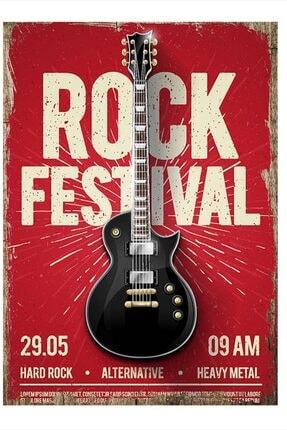 Tablomega Rock Festivali Tasarım Mdf Tablo 35cm X 50cm 0