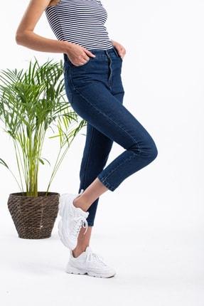 Masteks Kadın Koyu Mavi Boyfriendi Mom Jeans 3