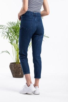 Masteks Kadın Koyu Mavi Boyfriendi Mom Jeans 4