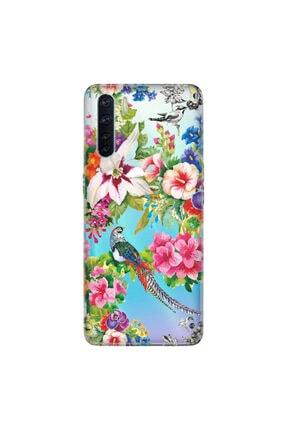 Cekuonline Oppo A91 Kılıf Temalı Resimli Silikon Telefon Kapak - Kuş Cenneti 0