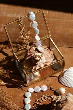 Linya Jewellery Kadın Altın Kaplama Nora & Inci Zincir Kolye 1