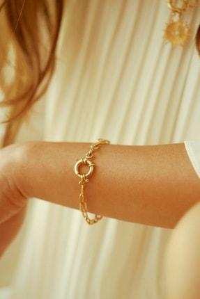 Linya Jewellery Kadın Altın Kilitli Zincir Bileklik 1
