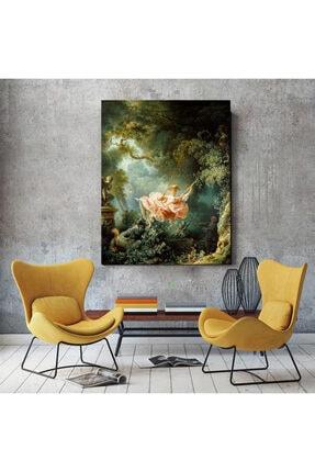 Canvas701 Salıncak, Jean Honore Fragonard Kanvas Tablo (Ölçü: 100x140cm) 0