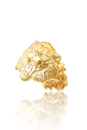 TYRAN DESIGN Kadın Kaplan Yüzük Altın Renk 0