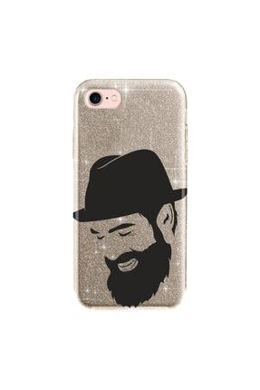 cupcase Iphone 5s Kılıf Simli Parlak Kapak Altın Gold Renk - Stok552 - Şapkalı 0