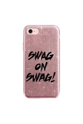 cupcase Iphone 6s Plus Kılıf Simli Parlak Kapak Pembe Rose Gold - Stok561 - Swag On 0