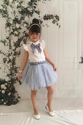 MARCHİO&MİO Kız Çocuk Mavi Etek Buluz Takım 2