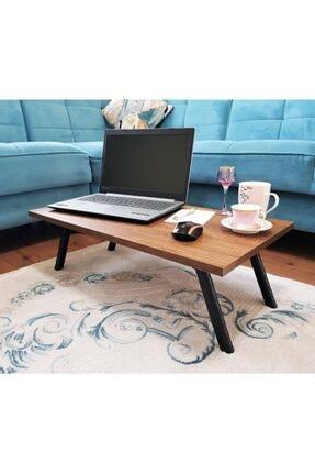 Elfin Mobilya ve Dekorasyon Elfin Laptop Sehpası Bilgisayar Sehpası Sofra Sehpası Ceviz 40x70 2