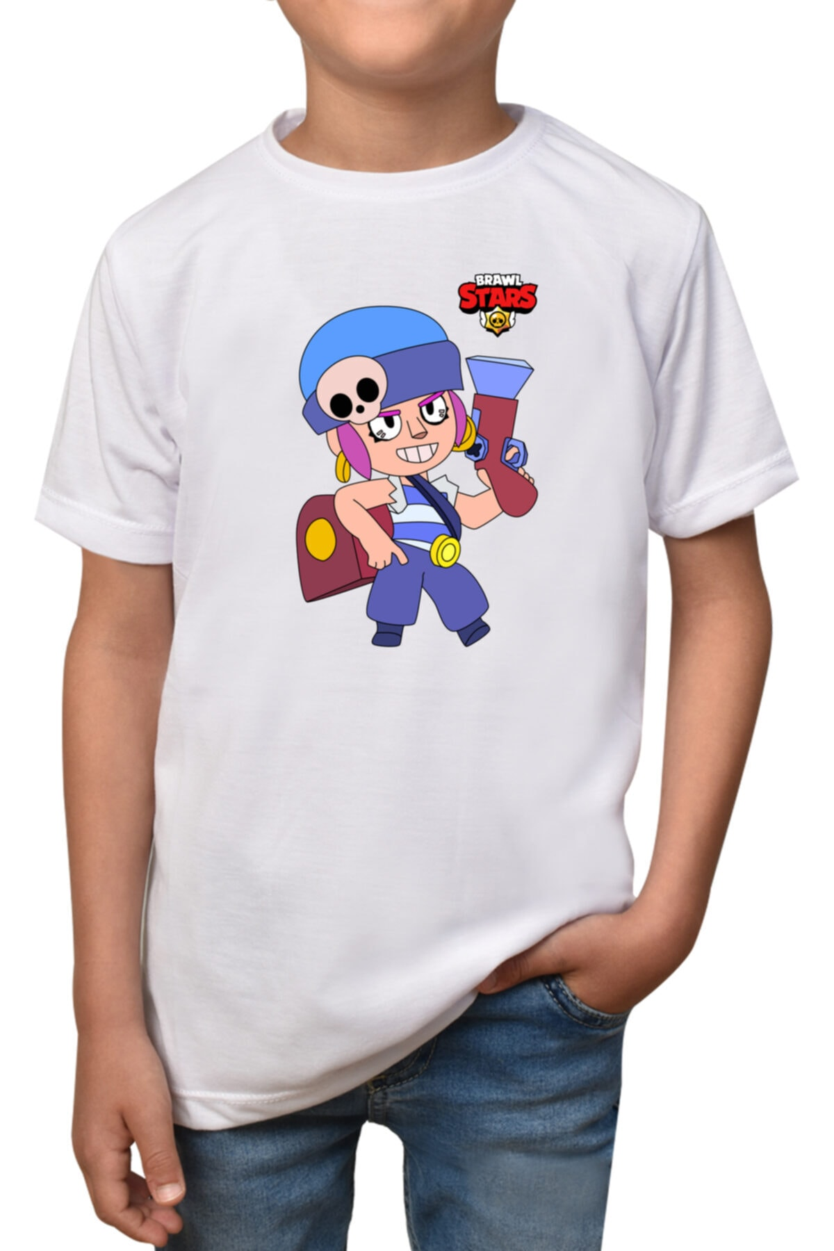 Unisex Çocuk Beyaz Brawl Stars - Penny-t-1 T-shirt T-2