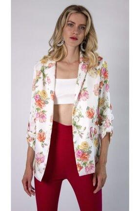 REMILA Kadın Çiçek Desenli Blazer Ceket 1