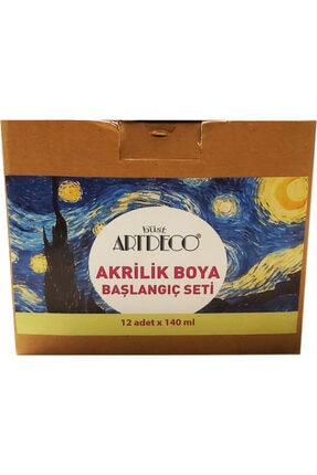 Artdeco Akrilik Boya Başlangıç Seti#1 12 Renk 140 Ml 0