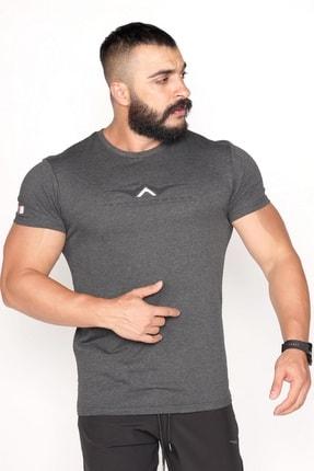Bessa Sport Bisiklet Yaka Süprem Kumaş Fosfor Baskı Detaylı Antrasit T-shirt 1