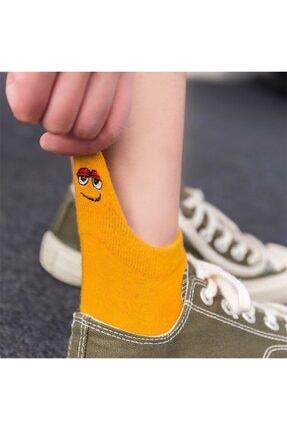 socksbox 8' Li Unisex Renkli Emojili Nakışlı Işlemeli Çorap 1