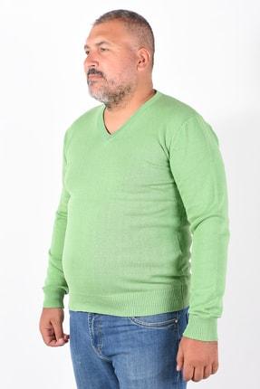 Trist Star Erkek Fıstık Yeşili V Yaka Kazak 1