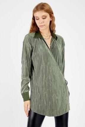 Manche Kadın Zümrüt Bluz 1