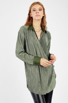 Manche Kadın Zümrüt Bluz 3