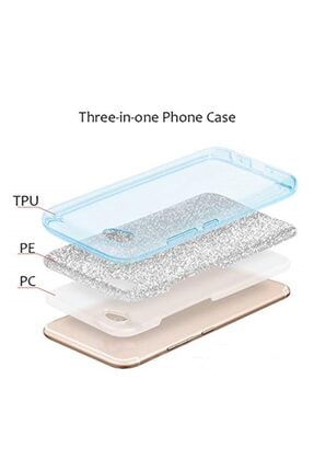 cupcase Iphone 7 Plus Kılıf Simli Parlak Kapak Pembe Rose Gold - Stok518 - Pandass 2