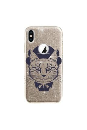 cupcase Iphone Xs Kılıf 5.8 Inc Simli Parlak Kapak Altın Gold Renk - Stok324 - Dr.cat 0