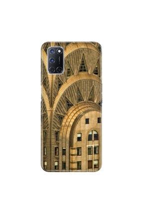 cupcase Oppo A72 Altın Kule Desenli Esnek Silikon Telefon Kabı Kapak - 0