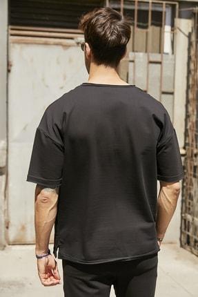 Sateen Men Erkek Siyah Yazılı T-Shirt 2