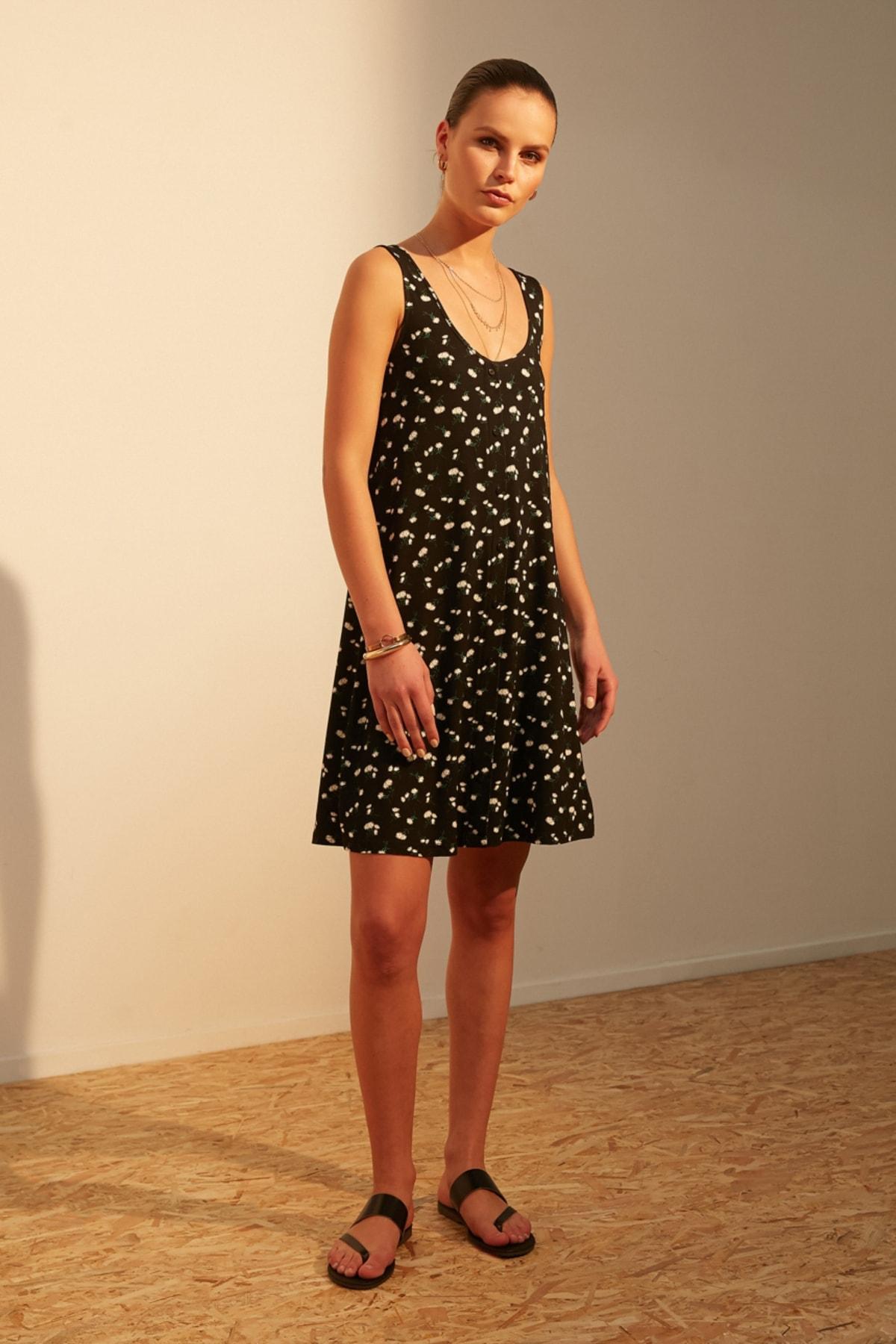 Kadın Siyah Elbise 379256