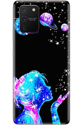 Noprin Samsung Galaxy S10 Lite Kılıf Silikon Baskılı Desenli Arka Kapak 0