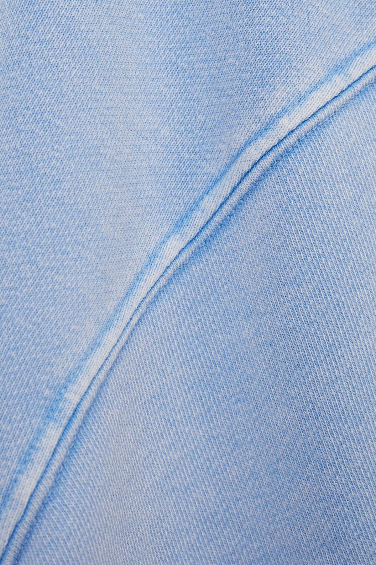 Bershka Kadın Açık Mavi İşlemeli Baskılı Sweatshirt 06844443 4