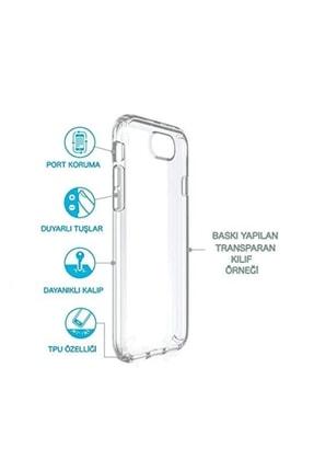 cupcase Iphone 7 Plus Kılıf Resim Esnek Silikon Kapak Pembe Beton Desen + Temperli Cam 1