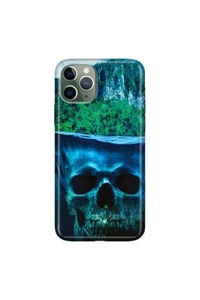 cupcase Iphone 11 Pro Kılıf Resimli Esnek Silikon Kapak Gizemli Orman Desen + Temperli Cam 0