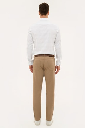 Pierre Cardin Camel Slim Fit Chino Pantolon 2