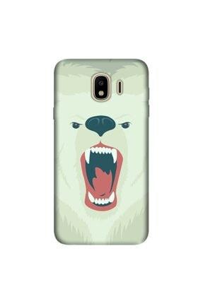 cupcase Samsung Galaxy J4 Kılıf Esnek Silikon Kapak Bear Fight Desen + Temperli Cam 0