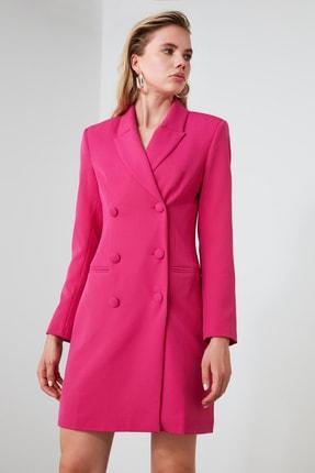 TRENDYOLMİLLA Fuşya Ceket Elbise TWOAW20EL0918 1