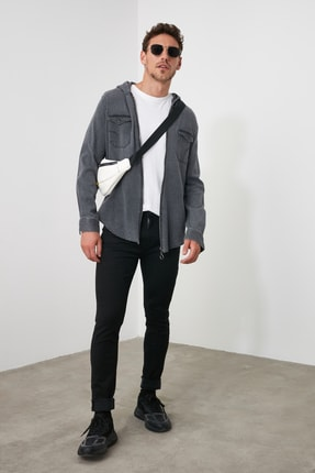TRENDYOL MAN Siyah Erkek Skinny Solmayan Siyah Jeans TMNSS20JE0236 0