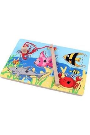 HAMAHA Ahşap Balık Tutma Oyunu Mini Puzzle 0
