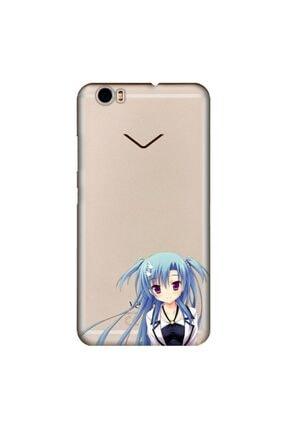 cupcase Vestel Venus Z10 Kılıf Esnek Silikon Kapak Mavi Anime Kız Desen + Temperli Cam 0