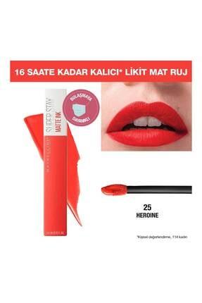 Maybelline Likit Mat Ruj - SuperStay Matte Ink Liquid Lipstick 25 Heroine 3600531411121 0