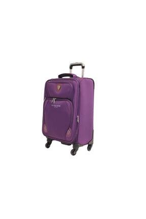 US Polo Assn Mor Büyük Boy Kumaş Valiz Bavul Plvlz 8089a-1mr 1