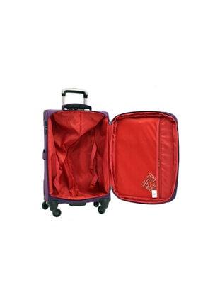 US Polo Assn Mor Büyük Boy Kumaş Valiz Bavul Plvlz 8089a-1mr 3