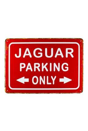 CARMA CONCEPT Jaguar Parkıng ,jaguar Metal Park Tabelası ,20x30cm Retro Metal Tabela 0