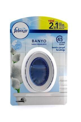 Febreze Hava Ferahlatıcı Banyo  Oda Kokusu Temiz Çarşaf Ferahlığı 0