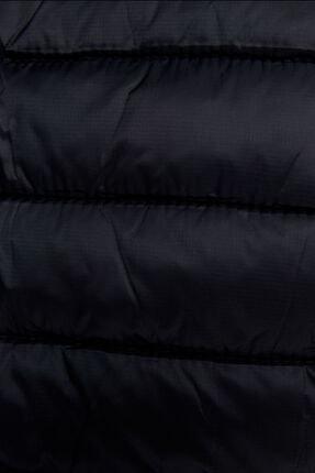 Bershka Erkek Siyah Kapüşonlu Şişme Yelek 4