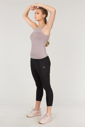 bilcee Siyah Yoga Kadın Şalvarı FS-1772 2