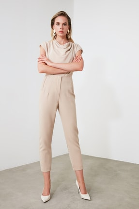 TRENDYOLMİLLA Bej Basic Pantolon TWOSS20PL0515 2